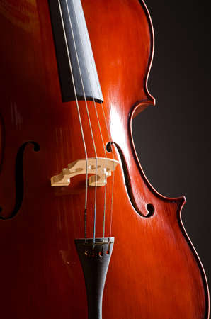 Music Cello in the dark room photo
