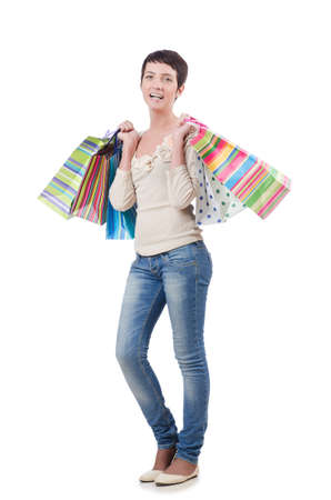 Girl after the shopping spree Stock Photo - 13644008