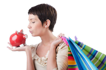Girl after the shopping spree Stock Photo - 13644015