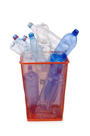 Plastic bottles in recycling concept Stock Photo - 13588900