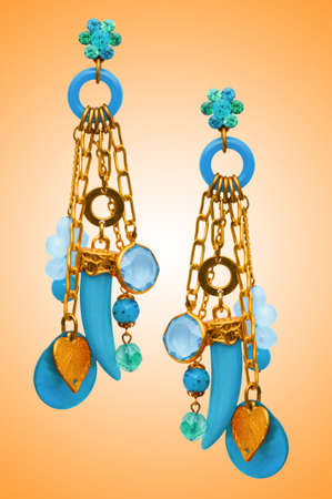 Jewellery concept with nice earrings photo