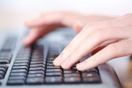 Hands typing on the keyboard Stock Photo - 13875380