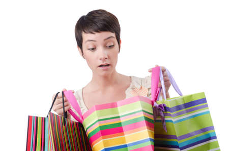 Girl after the shopping spree Stock Photo - 13867860