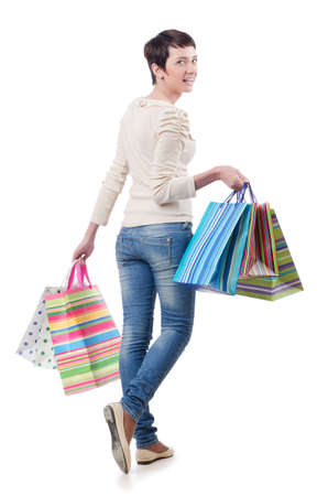 Girl after the shopping spree Stock Photo - 13867715