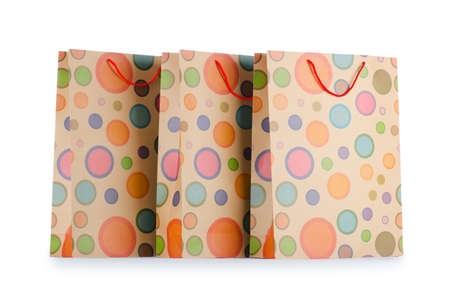 Shopping bags isolated on white Stock Photo - 13867842
