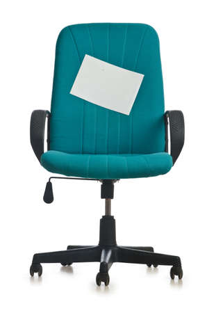 office equipment: Office chair isolated on the white background Stock Photo