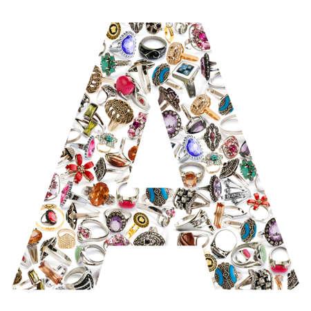 Alphabet made of letters 版權商用圖片