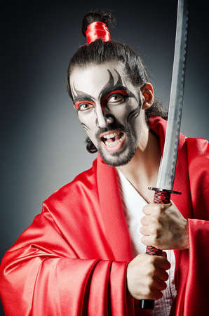 Japanese actor with sword Stock Photo - 14385922