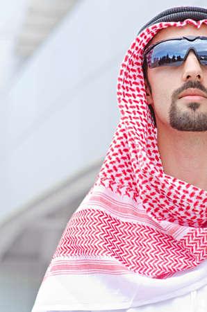 arab people: Arab on the street in summer Stock Photo