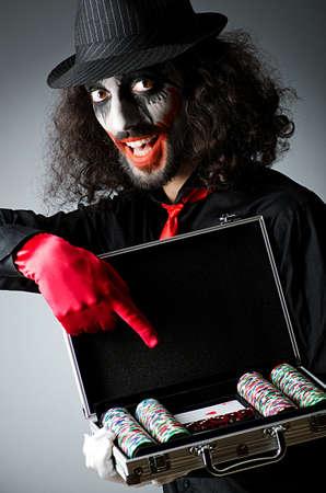 Joker with cards in studio shoot Stock Photo - 14084626