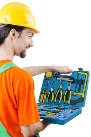 Repairman in coveralls in industrial concept Stock Photo - 14385687