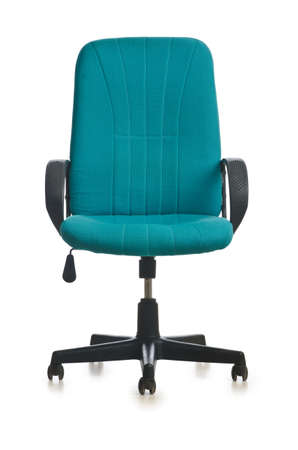 wheel chair: Office chair isolated on the white background Stock Photo