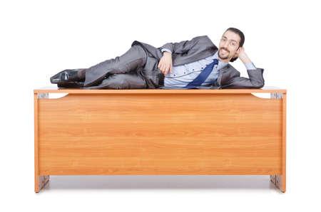 Businessman sleeping at this desk Stock Photo - 14130463