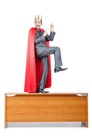 Man in red cover on white Stock Photo - 14130445