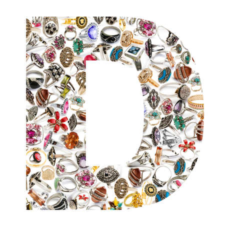 Alphabet made of letters photo