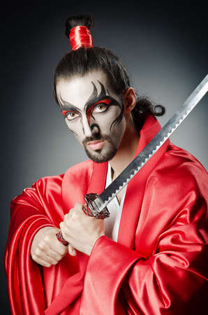 ninja ancient: Japanese actor with sword