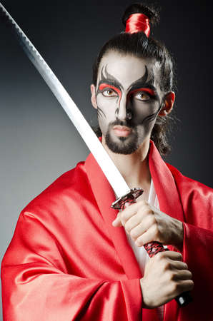 Japanese actor with sword photo