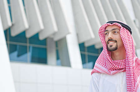 bohra: Arab on the street in summer Stock Photo