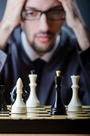 Chess player playing his game Stock Photo - 14385736