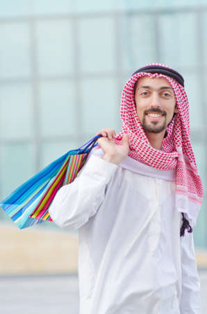 Arab on the street in summer photo