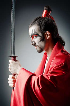 Japanese actor with sword Stock Photo - 14385518