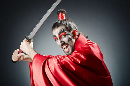 Japanese actor with sword Stock Photo - 14385519