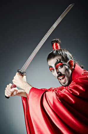 Japanese actor with sword Stock Photo - 14385507