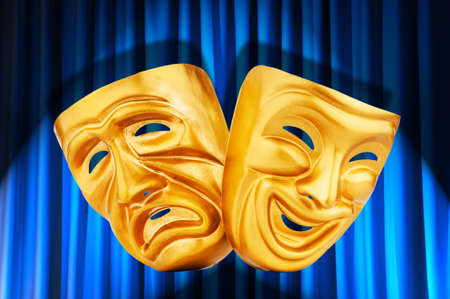 Theatre performance concept with masks Stock Photo - 14274952