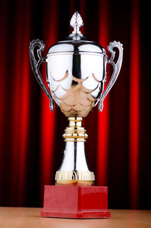 Prize cup tegen de achtergrond