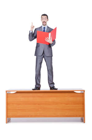 Young businessman isolated on the white Stock Photo - 14385147