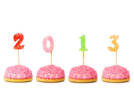 2013 made with cake candles photo