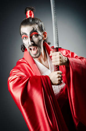 Japanese actor with sword Stock Photo - 14425747