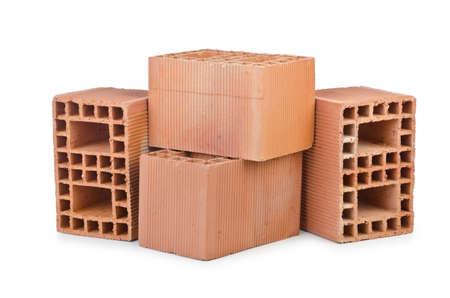 Clay bricks isolated on the white Stock Photo - 14442761