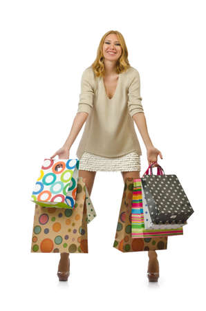 Attractive girl with shopping bags Stock Photo - 14425449