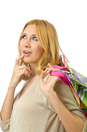 Attractive girl with shopping bags Stock Photo - 14425631