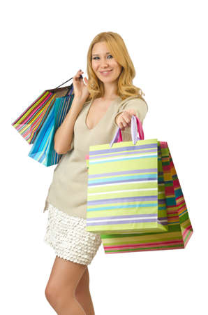 Attractive girl with shopping bags Stock Photo - 14425487