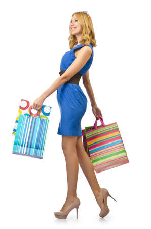 Attractive girl with shopping bags Stock Photo - 14425410