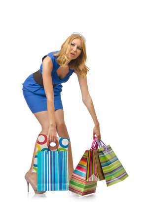 Attractive girl with shopping bags Stock Photo - 14425409