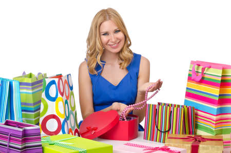 Attractive girl with shopping bags Stock Photo - 14425564