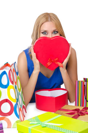 Attractive girl with shopping bags Stock Photo - 14423996