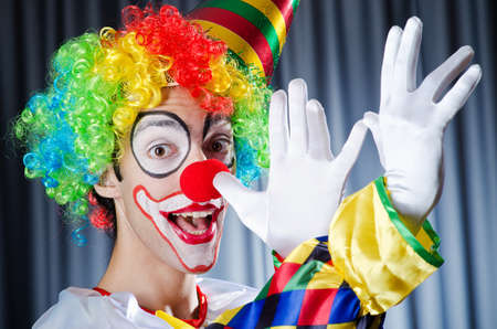 clowns: Funny clown in studio shooting Stock Photo