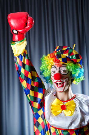 Clown with boxing gloves photo
