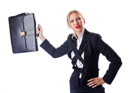 Woman businessman isolated on the white Stock Photo - 14703629