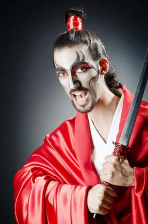 Japanese actor with sword Stock Photo - 14703821