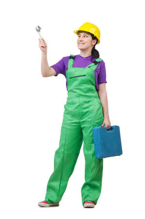 Woman worker isolated on the white Stock Photo - 14703621