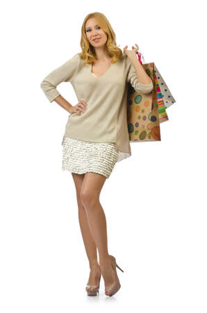 Attractive girl with shopping bags Stock Photo - 14703609