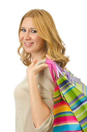 Attractive girl with shopping bags Stock Photo - 14703755