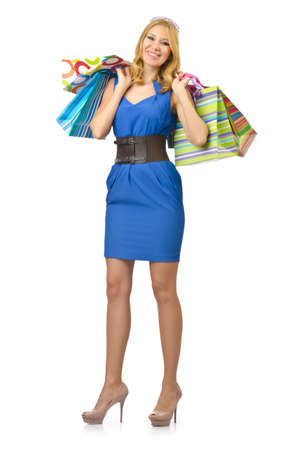 Attractive girl with shopping bags Stock Photo - 14703551