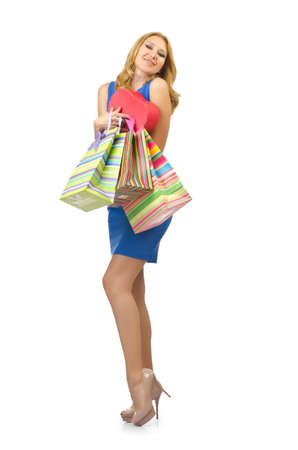 Attractive girl with shopping bags Stock Photo - 14703533