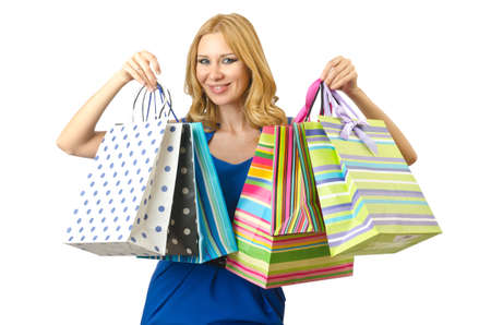 Attractive girl with shopping bags Stock Photo - 14703645